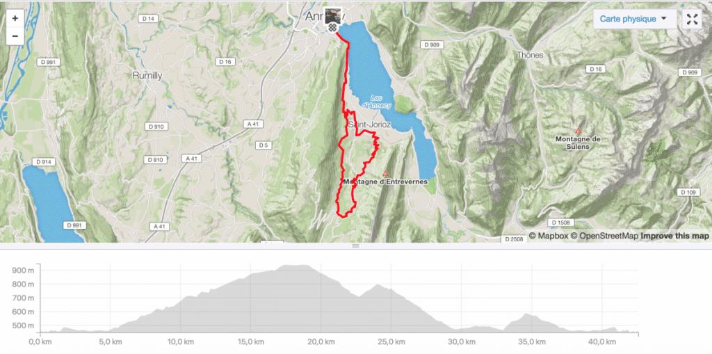 Parcours Vélo Triathlon Annecy